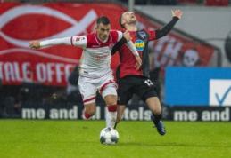 """""""Hertha"""" panaikino trijų įvarčių deficitą ir išplėšė tašką mače su """"Dusseldorf"""""""