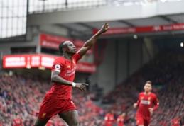 """Po ankstyvo įvarčio atsitiesęs """"Liverpool"""" grįžo į pergalių kelią"""
