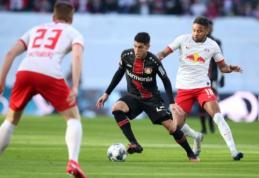 """""""RB Leipzig"""" ir """"Bayer"""" pasidalino po tašką"""