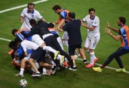 Dramatiškose rungtynėse G.Samaro 11m. baudinys išvedė graikus į aštuntfinalį (VIDEO)