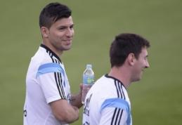 """S.Aguero atmetė galimybę persikelti į """"Real"""" ar """"Barcelona"""""""