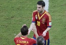 """S.Cazorla tikisi, kad C.Fabregasas sugrįš į """"Arsenal"""" klubą"""