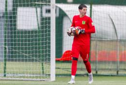 """17-metis """"Riterių"""" vartininkas apie augančius tikslus vyrų futbole: """"Pradžia buvo nelengva"""""""