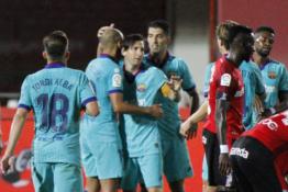 """""""Barcelona"""" grįžo su trenksmu – išvykoje sutriuškinta """"Mallorca"""""""