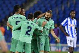 """Ispanijoje – naujas lyderis: Madrido """"Real"""" po sunkios kovos palaužė """"Real Sociedad"""""""