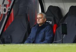 J. Mourinho po skaudaus pralaimėjimo liko nepatenkintas VAR darbu