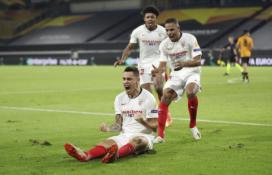 """Paskutinėmis rungtynių minutėmis """"Sevilla"""" žengė į Europos lygos pusfinalį"""