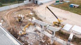 Statybinė technika grįžta į S. Dariaus ir S. Girėno stadioną