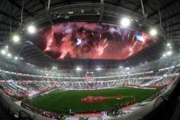 Baisi stadionų statybos kaina Katare: žuvusius skaičiuoja tūkstančiais