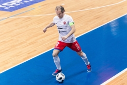 """""""Pramogos"""" nesunkiai žengė į LFF Futsal taurės pusfinalį"""