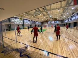 Surengta pirmoji salės futbolo vartininkų stovykla