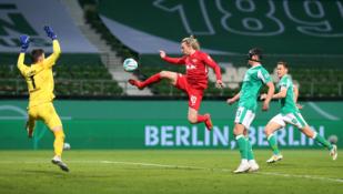 """""""RB Leipzig"""" žengė į Vokietijos taurės finalą"""