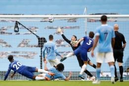 """""""Chelsea"""" rungtynių pabaigoje išplėšė pergalę prieš """"Man City"""""""