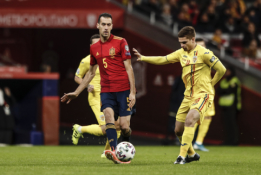S. Busquetsas grįžta į Ispanijos rinktinę