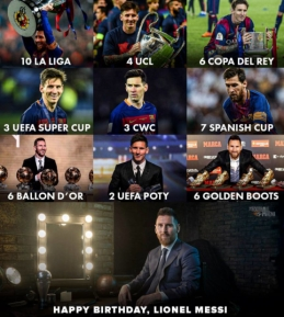 Šiandien – 34–asis L. Messi gimtadienis