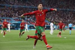 Aštuntfinalyje iš turnyro pasitraukęs C. Ronaldo – rezultatyviausias EURO 2020 futbolininkas