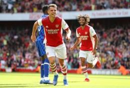 """Apsigalvojo: G. Xhaka turėtų pasirašyti naują kontraktą su """"Arsenal"""""""