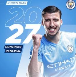 """""""Man City"""" gynybos ramstis pratęsė sutartį su klubu iki 2027 metų"""