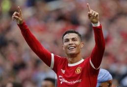"""Nerealus sugrįžimas – C. Ronaldo dublis nulėmė """"Manchester United"""" pergalę"""