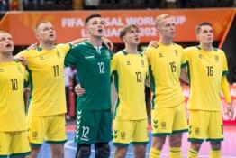 Lietuvos futsal rinktinė pralaimėjimu pradėjo pasirodymą pasaulio čempionate