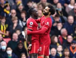 """""""Watford"""" ir """"Liverpool"""" mače – jubiliejinis S. Mane įvartis bei dar vienas M. Salah """"stebuklas"""""""