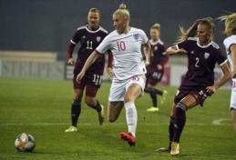Latvijos moterų rinktinė nuo anglių praleido dviženklį įvarčių skaičių