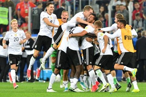 Konfederacijų taurė - Vokietijos futbolininkų rankose (FOTO, VIDEO)