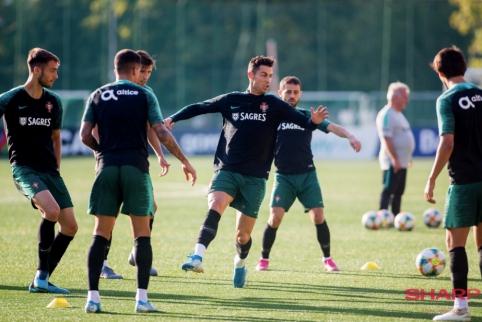 Portugalijos rinktinės treniruotė LFF stadione