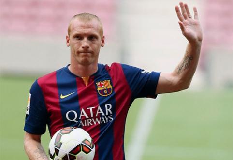 """J.Mathieu: """"Daug dirbau, kad galėčiau rungtyniauti """"Barcelona"""" klube"""""""