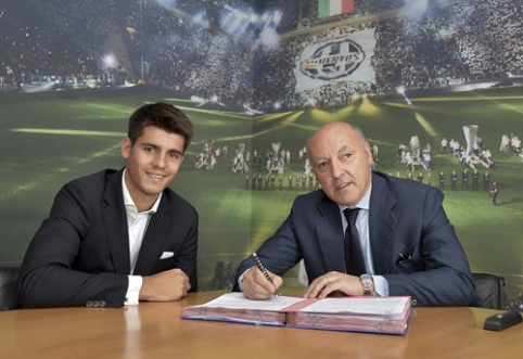 """Oficialu: A.Morata už 20 mln. eurų keliasi į """"Juventus"""""""