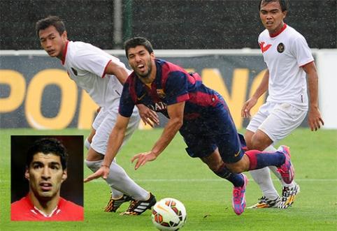 """""""Barcelona"""" puolėjas L.Suarezas priaugo antsvorio?"""