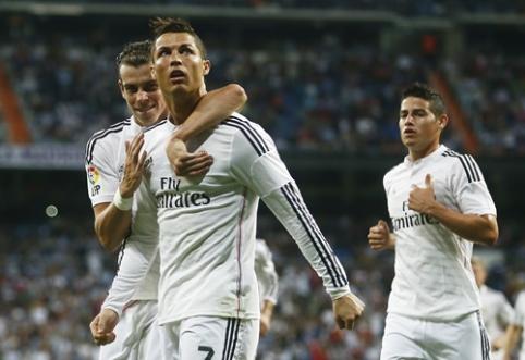 """""""Real"""" triuškinanti pergalė pažymėta C.Ronaldo """"pokeriu"""" (VIDEO)"""