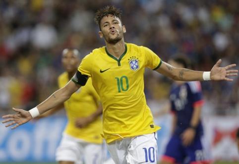 """Neymaro """"pokeris"""" lėmė triuškinančią brazilų pergalę prieš Japoniją (VIDEO)"""