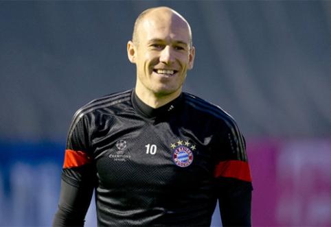"""""""Man Utd"""" sausį žada už 30 mln. eurų prisivilioti A.Robbeną"""