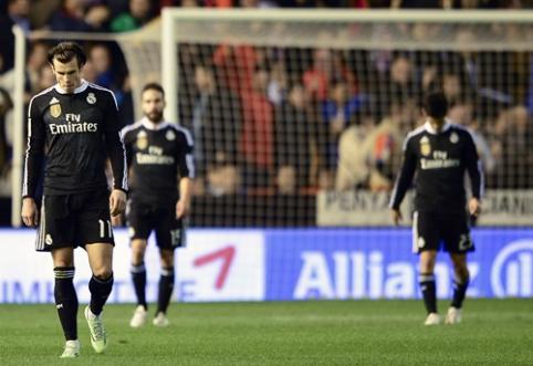 """Įspūdingą pergalių seriją pasiekęs """"Real"""" suklupo Valensijoje, o """"Barcelona"""" - San Sebastiane (VIDEO)"""