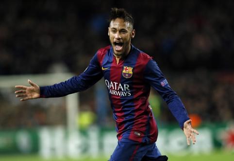 Neymaras - geriausiai Europoje žaidžiantis brazilas