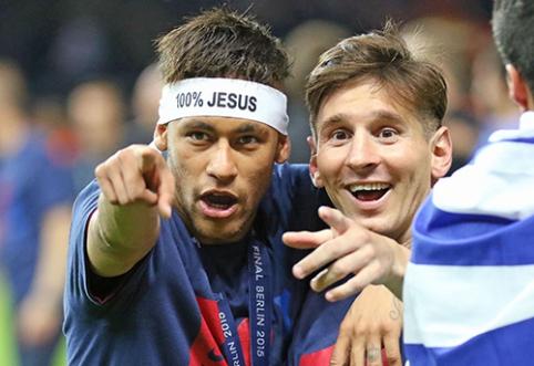 """""""Barcelona"""" gerbėjai JAV liks it musę kandę - Messi ir Neymarui pratęstos atostogos"""