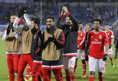 """Du įvarčius rungtynių pabaigoje pelniusi """"Benfica"""" keliauja į Čempionų lygos ketvirtfinalį (VIDEO)"""