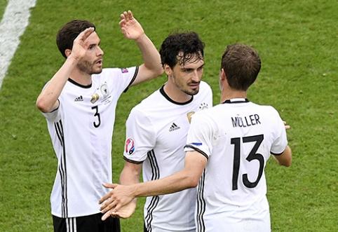 Rungtynėms prieš slovakus vokiečiai ruošiasi žaisdami krepšinį (VIDEO)
