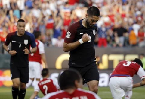 """""""Copa America"""": skirtingai pasirodžiusios JAV ir Kolumbijos rinktinės žengė tolyn (VIDEO)"""