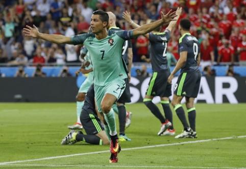 M.Platini pasivijęs C.Ronaldo nutiesė portugalams kelią į finalą (FOTO, VIDEO)