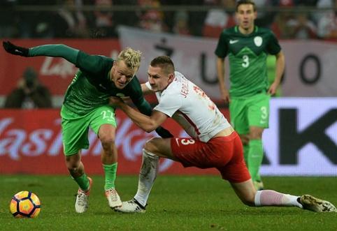 Draugiškose rungtynėse - lenkų ir slovėnų lygiosios (VIDEO)