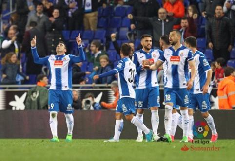 """""""Espanyol"""" pasiekė dramatišką pergalę Ispanijos pirmenybėse (VIDEO)"""