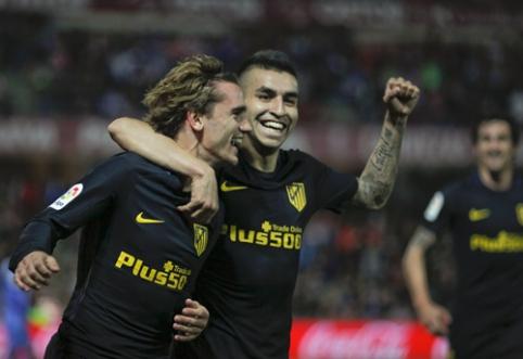 """""""Atletico"""" tik rungtynių pabaigoje palaužė """"Granada"""", """"Sevilla"""" dar kartą prarado taškus (VIDEO)"""