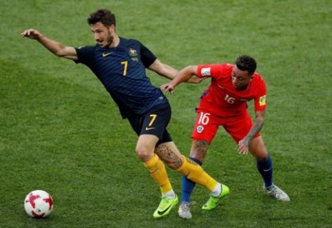 Australija buvo arti pergalės prieš Čilę, bet į Konfederacijų taurės pusfinalį nepateko (VIDEO)