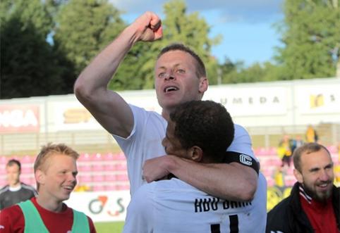 """LFF taurė: """"Stumbro"""" išsigelbėjimas Jonavoje ir """"Sūduvos"""" triuškinama pergalė prieš """"Trakus"""""""