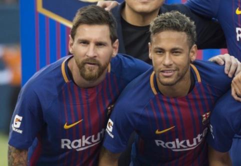 L. Messi atsisveikino su Neymaru