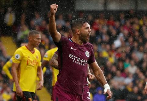 """""""Man City"""" nušlavė """"Watford"""" ekipą, """"Liverpool"""" neįveikė """"Burnley"""" (VIDEO)"""