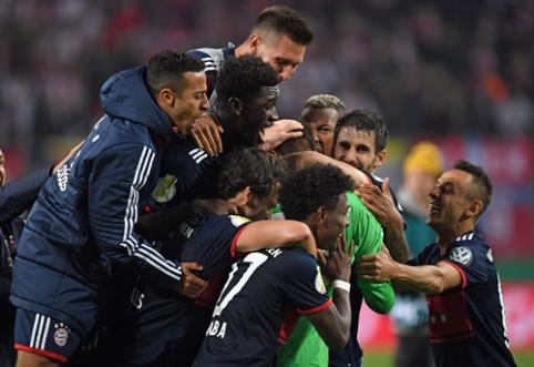 """Vokietijos taurė: """"Bayern"""" po 11 m. baudinių serijos palaužė """"Leipzig"""" (VIDEO)"""