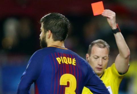 """Pamatykite: G. Pique raudona kortelė pradžiugino """"Barcos"""" aistruolius iš Azijos (VIDEO)"""